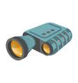 binoculars or modern zoom lens spyglass vector image vector image