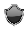 black security shield sign vector image