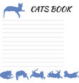 blank for records with cat blank notepad vector image vector image