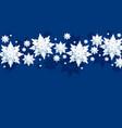 blue winter sky vector image vector image
