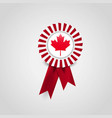 canada flag badge design vector image vector image