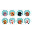 cat paw icons vector image