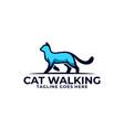 cat walking design concept template vector image