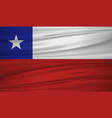 chile flag flag of chile blowig in the wind eps vector image