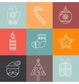 Christmas icons set Holiday objects collection vector image vector image