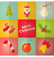 christmas icos set vector image