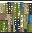 city colorful panorama houses hand drawn vector image