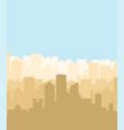 city silhouette megapolis silhouette skyscrapers vector image vector image