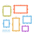 colorful set of frames isolated on white vector image