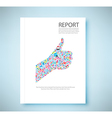 Cover report Like symbol social network background vector image vector image