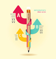 Creative Template with pencil ribbon arrow banner vector image vector image
