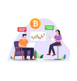 cryptocurrency investment concept vector image vector image