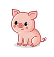 cute pig sitting on a white background vector image