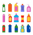 detergent bottles cleaning products container vector image vector image