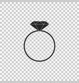 diamond engagement ring icon isolated vector image