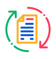 document cycle icon outline vector image vector image