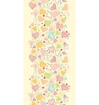 Doodle Hearts Vertical Seamless Pattern Background