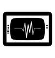 ekg monitor isolated icon vector image