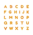 English alphabet Bright font letters vector image