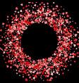 frame or border random scatter hearts vector image vector image