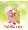 happy valentines day elephants dance vector image