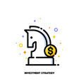icon knight chess piece for investment strategy vector image vector image