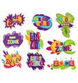 kids zones set children playground game room vector image vector image