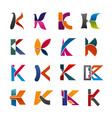 letter k icon of abstract alphabet font design vector image vector image