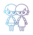 line children together with hairstyle design vector image vector image