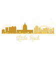 Little Rock City skyline golden silhouette vector image vector image