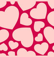 love seamless pattern with hearts valentines day vector image vector image