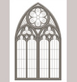medieval gothic stained glass window vector image vector image