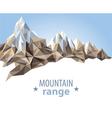 mountain range vector image vector image