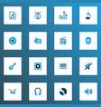 multimedia icons colored set with start silence vector image vector image
