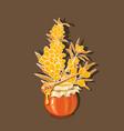 natural sea buckthorn honey hand drawn vector image vector image