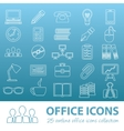 office outline icons vector image vector image
