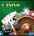 online casino gambling background with vector image