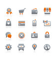 online store icons - graphite series vector image