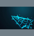 paper airplane aircraft abstract wire low poly vector image
