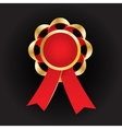 Realistic gold award with reb bow and