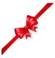 Red bow with gold strips vector image vector image