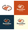 renovation and roofing real estate logo and icon vector image