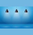 retro pendant ceiling cone lamp vector image vector image