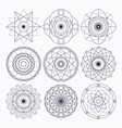 sacred geometry design elements vector image vector image