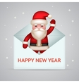 Santa claus with giftbox new year merry christmas vector image