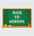 school blackboard back to vector image