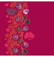 Seamless pattern with flowers butterflies and vector image vector image