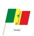 Senegal Ribbon Waving Flag Isolated on White vector image