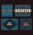 set 4 vintage labels for packing vector image vector image
