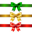 Set Of Color Bows vector image vector image